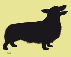 Dog silhouettes (set 4)