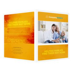 Family Photo Real Estate Folder Template (Front and Back View)