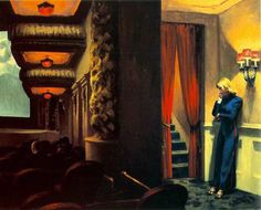 New York Movie by Edward Hopper (1939) #painting #art