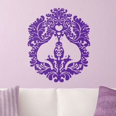 Damask Cats Wall Decal #artwork #decal #cat