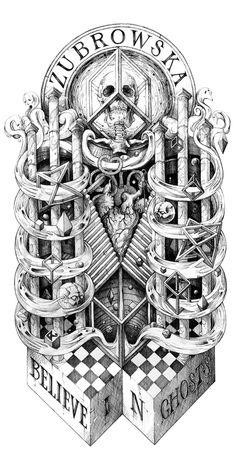 ZUBROWSKA Shirt #illustration #skull #litho #romain leir