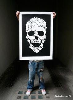 illustration #skul #ghosts #poster