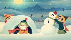 Dribbble - Some Winter Fun by Craig Henry #awesome #snowman #henry #craig #winter