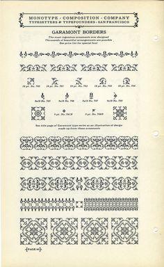 Monotype Garamont type specimen #type #garamond #specimen