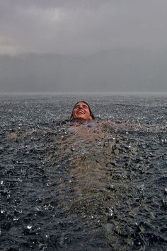 Rain swimming via Baubauhaus. #swimming #photo #rain