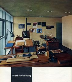 A House to Live With: Paul Rand in Esquire 1953: Slideshow: Slide 6: Observatory: Design Observer #interior #architecture