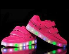 Kid's shoes hot style of male and female light up shoes seven lights