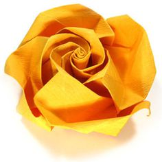 How to make an origami beauty rose (http://www.origami-flower.org/howto-origami-rose.php) #origami #rose #origamirose