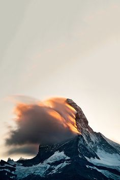 Burning Peak, Switzerland | The Glorified Landscape by Rafael Rojas #mountain #rock #burning #cold #peak #landscape #mist #photography #beauty