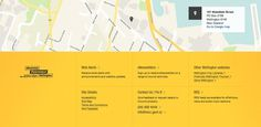 Footer from Wellington City Council › PatternTap #square #yellow #flat #footer