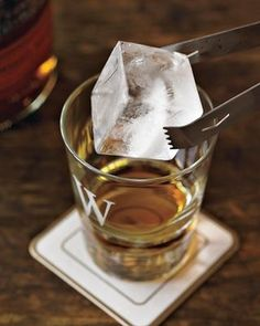 King Cube Silicone Ice Cube Trays, Set of 2 | Williams-Sonoma #whiskey #ice #cube