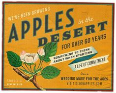 Dixon's Apple Orchard Poster #illustration #vintage #poster #type #layout