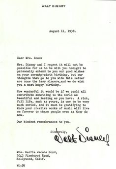 walt.jpg (474×689) #letter #disney #walt #signature