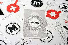 Mafia playing cards on the Behance Network #design #cards