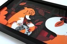 Tougui #frame #vector #paper #fox