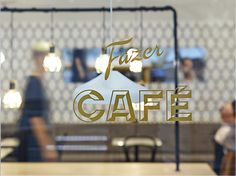 Fazer Café #lettering #signage #window #logo #typography