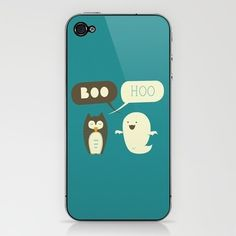 Boo Hoo iPhone & iPod Skin by AGRIMONY // Aaron Thong | Society6 #hoo #boo