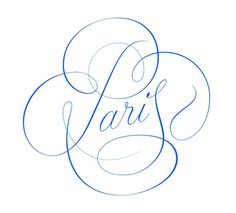 Paris type lettering by @andreirobu #typography