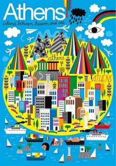 Athen Poster - www.humanempire.com #poster #athens