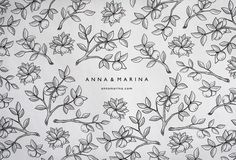 Anna #logo #illustration #pattern #branches