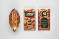 Marou chocolate packaging | Art and design inspiration from around the world - CreativeRoots #chocolate #emblem #exotic