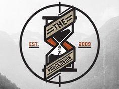 Dribbble - The Procession Logo 2 by Adam Grason #logo #procession #hourglass #dark