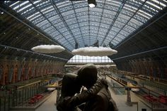 CJWHO ™ #trainstation #cloud #installation #london #design #photography #architecture #art #love