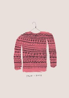 1920 - 2012 - by Alejandra Hernandez #fashion #illustration