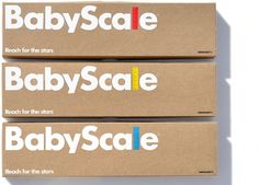 Work: Babyscale | Astrid Stavro #graphic design #logo #typeface #packaging