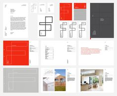 Fraher architects by Freytag Anderson #red #blue #brand design #stationary #graphic design