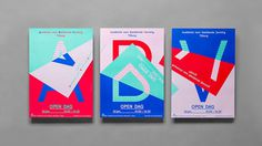 Beautiful and clever poster triptych, University for Fine Arts Campaign