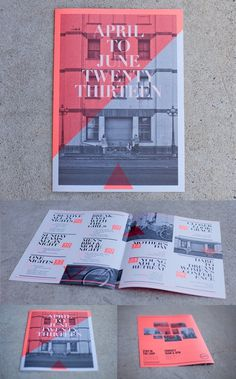 Event Calendar #a3 #red #white #a4 #calendar #newspaper #black #pantone #street #fluro
