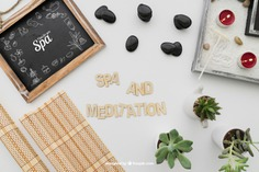 Spa and meditation composition Free Psd. See more inspiration related to Mockup, Spa, Health, Cute, Yoga, Text, Chalkboard, Mock up, Plant, Decoration, Drawing, Cactus, Bamboo, Healthy, Decorative, Peace, Lettering, Mind, Balance, Draw, Relax, Pot, Meditation, Wellness, Healthy lifestyle, Candles, Lifestyle, Up, Tablecloth, Stones, Relaxation, Composition, Mock, Peaceful and Inner on Freepik.