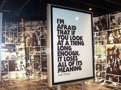 Andy Warhol's Quote #quote #poster #typography