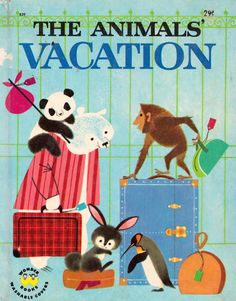 The Animals' Vacation illustrated by Shel and Jan Haber #illustration