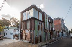 Raffaello Rosselli Tinshed Sydney Scrap facade #reclaimed #raffaello #tin #industrial #architecture #rosselli #rusted