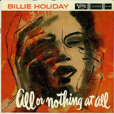 Pics For > Billie Holiday Album #album #script #cover #holiday #brush #billie