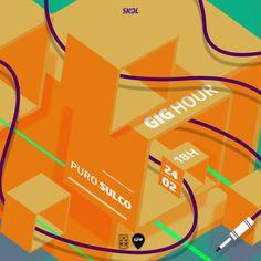 #orange #gig #music #dj #flyer #cube #illustration