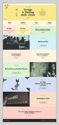 mr. marcel school #ux #design #ui #minimal #web