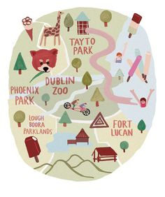 Lovely Illustrations / map illustration for Image Magazine.