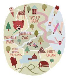 Lovely Illustrations / map illustration for Image Magazine. #illustration #maps