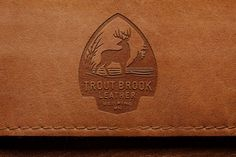 Deer on leather #logo #deer