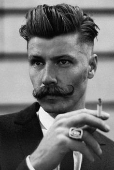 FFFFOUND! | Lancia TrendVisions - Trend Wall #smoke #haberdashery #hair #suit #ring #moustache