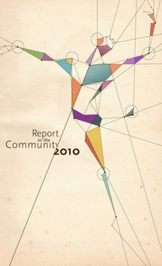 "Community Report Cover Image ""Dancer"" #typography #type #colorful #dance #dancer #report #community"