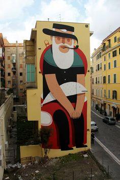 Il Civitavecchio | Agostino Iacurci #rome #mural #art #street