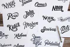 805 Million Names, Zlatan Ibrahimović #fonts #ibrahimoviä‡ #zlatan #typo #typography