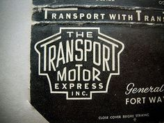 FFFFOUND! | The Transport Motor Express on Flickr - Photo Sharing! #vintage #type