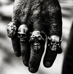 GlitterPot #hand #skull #rings