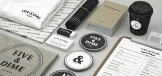 Five & Dime #branding #design #graphic #identity #stationery