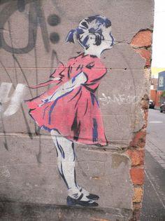 Melbourne Street Art #pavement #art #street